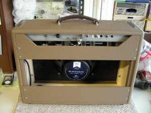 austin's finished amp rear